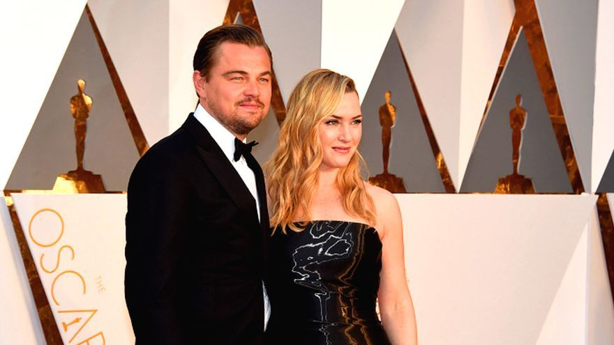 Leonardo DiCaprio y Kate Winslet, de Titanic a colegas de piscina