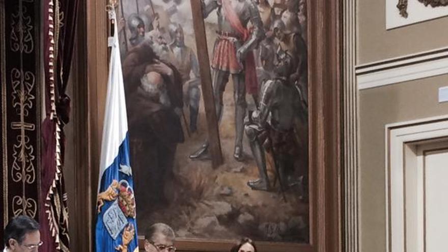 Elí Rodríguez en su intervención en el Parlamento de Canarias. @ignaciogonsan