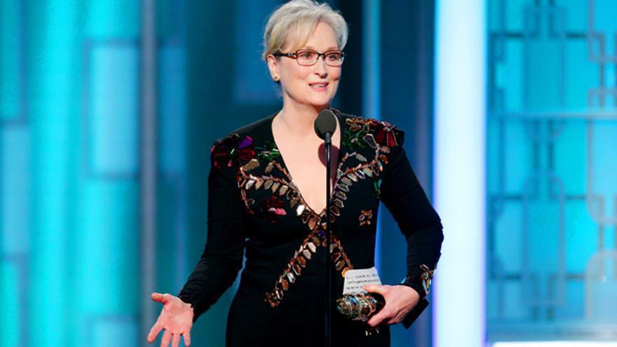 Meryl Streep en los Globos de Oro 2017