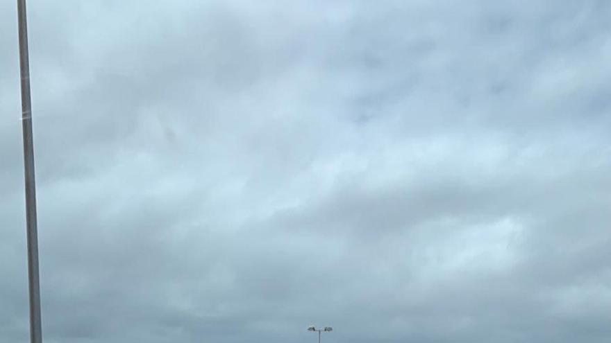Imagen de las retenciones en la GC-1 la tarde del miércoles sacada dese un coche