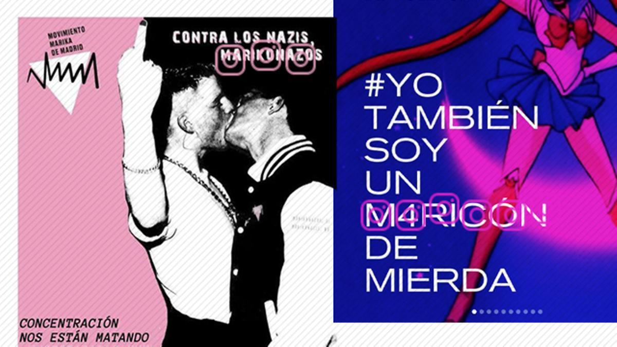 Publicaciones de Movimiento Marika de Madrid en Instagram.