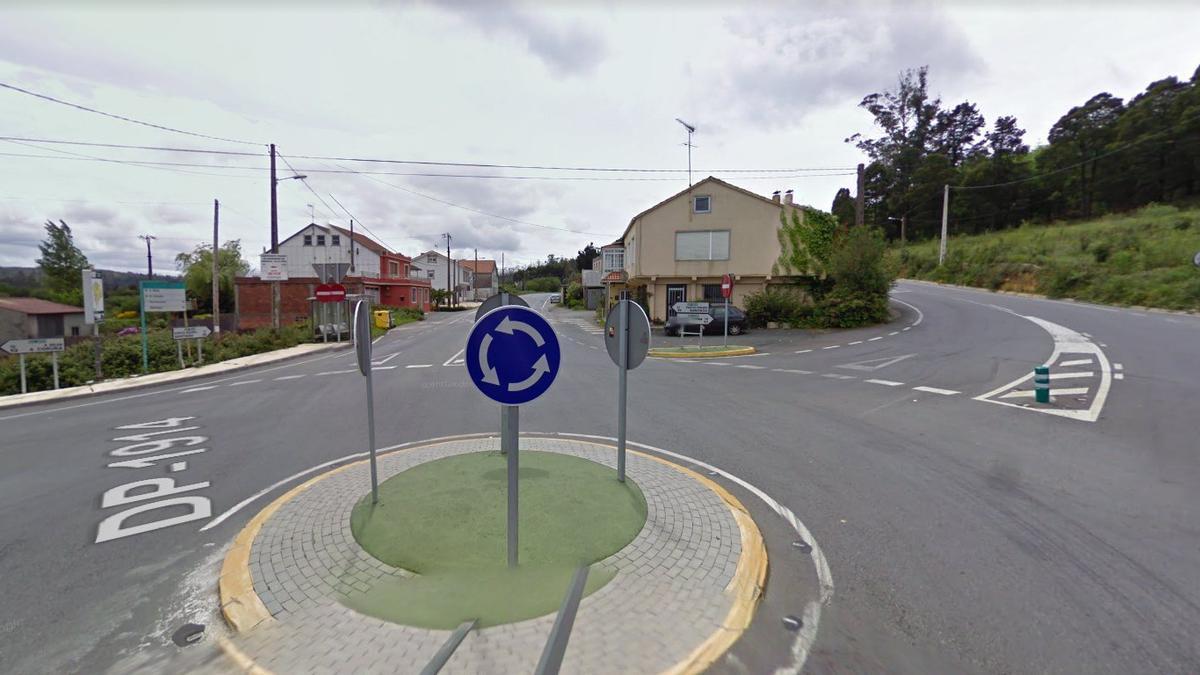 Lugar de Empalme, parroquia de Arxeriz, Concello de Tordoia, en A Coruña, donde se encuentra una de las naves del empresario detenido.