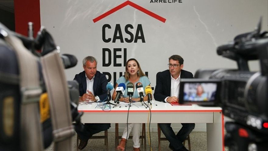Dolores Corujo, Sebastián Franquis e Iñaki Lavandera.