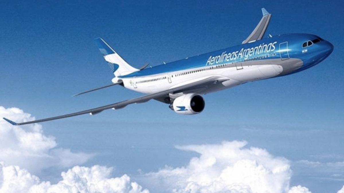 Avión de Aerolineas Argentinas