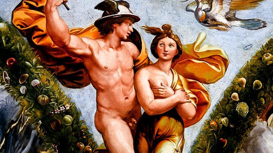 Frescos de la Villa Farnesina, en el Trastevere romano. VILLA FARNESINA