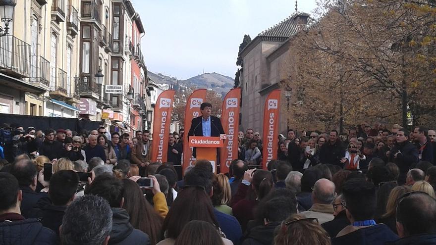 Marín (C's) espera duplicar los resultados de las autonómicas y lograr entre 11 y 14 diputados en Andalucía