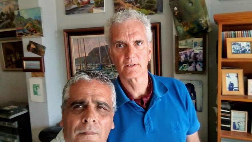 Santiago Jorge (i) y Carlos Gibrán.