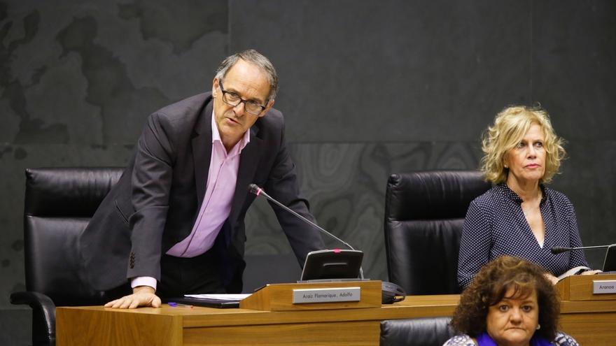 """EH Bildu se ausenta del pleno del Parlamento foral en protesta por """"la situación de excepcionalidad en Cataluña"""""""