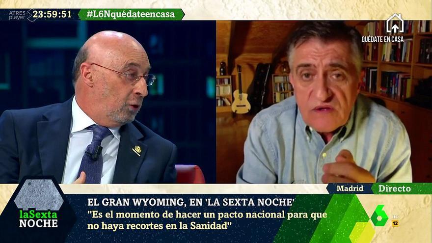 Wyoming y el médico Julián Ezquerra en 'laSexta Noche'