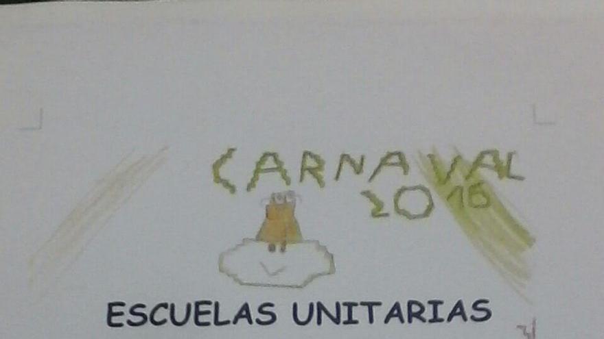 Cartel del Carnaval de las Escuelas Unitarias.