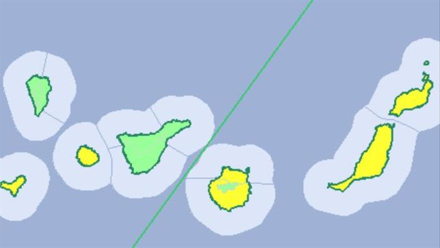 Aviso amarillo en Canarias para este jueves, 29 de diciembre