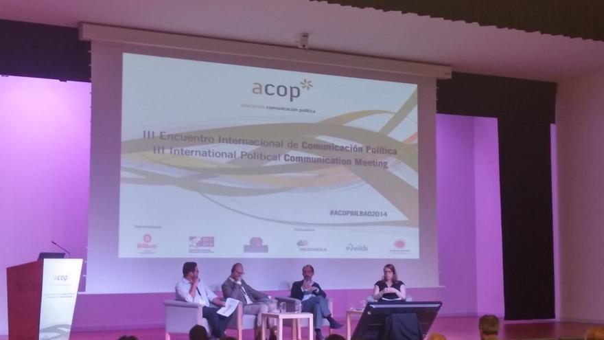Primera jornada del tercer congreso internacional de Comunicación Política celebrado en Bilbao.