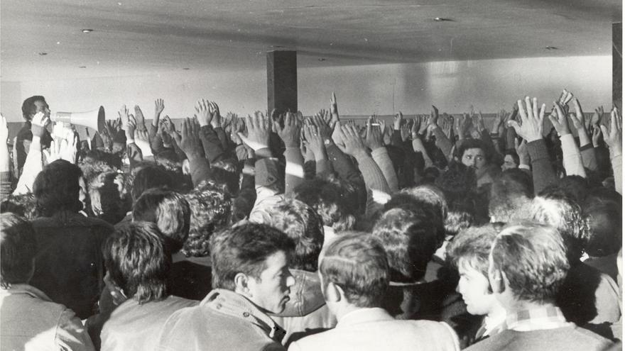 Asamblea obrera en los años 60