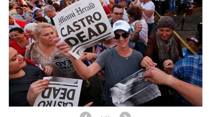 """Miami Herald con el titular """"Castro Muerto"""""""
