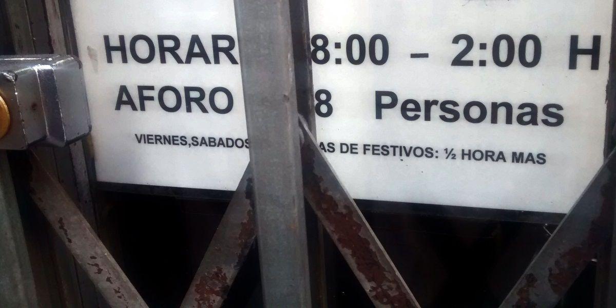 Licencia municipal que muestra un local de la Corredera | SOMOS MALASAÑA
