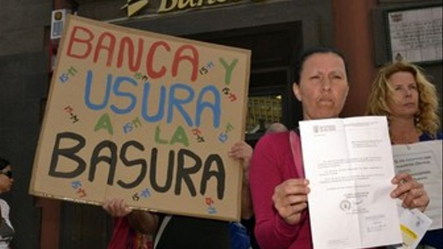 Protesta contra el desahucio. (ACFI PRESS)