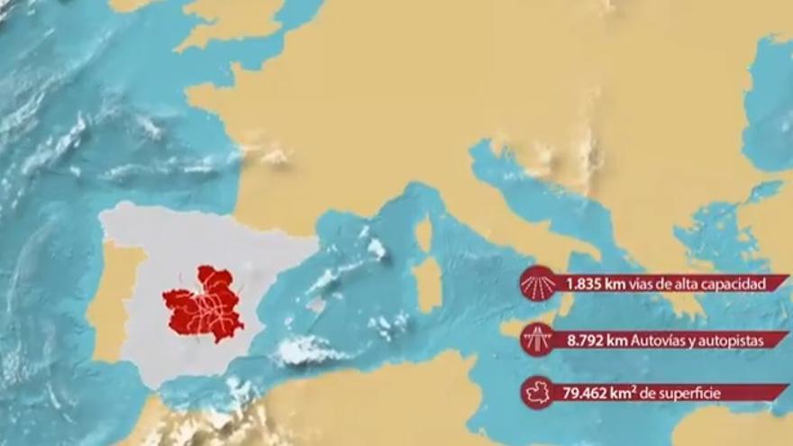Imagen del vídeo promocional dirigido a la captación de empresas para Castilla-La Mancha
