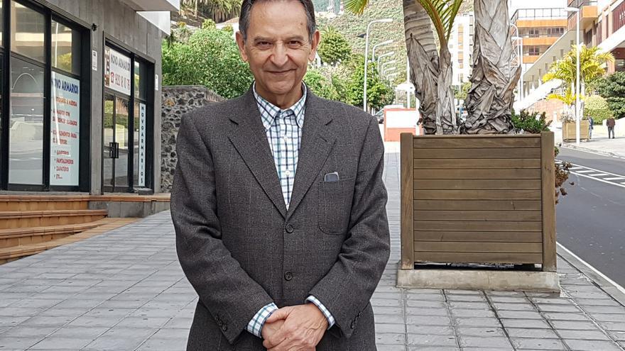 Antonio Castro es presidente del grupo Nacionalista Canario. Foto: LUZ RODRÍGUEZ.