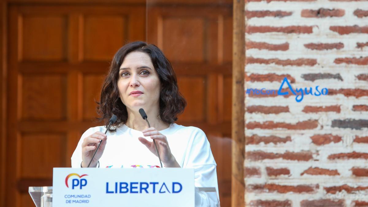 La presidenta de la Comunidad de Madrid y candidata del PP a la reelección el 4M, Isabel Díaz Ayuso.