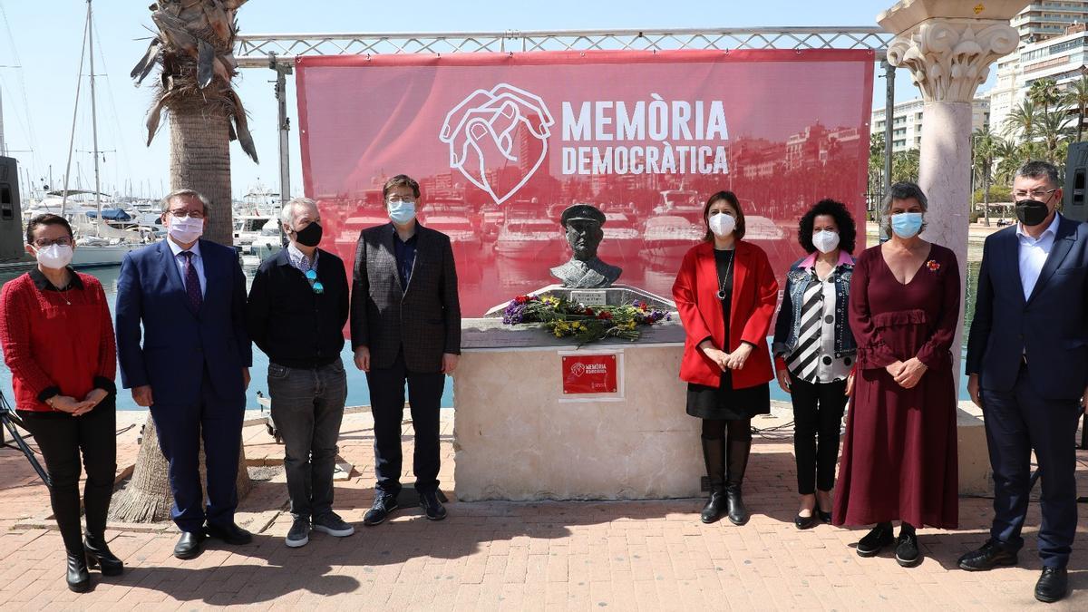 El Consell homenajea en Alicante a las víctimas de la Guerra civil.