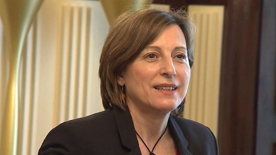 La presidenta del Parlament catalán y al menos dos consellers del Govern trabajarán este martes
