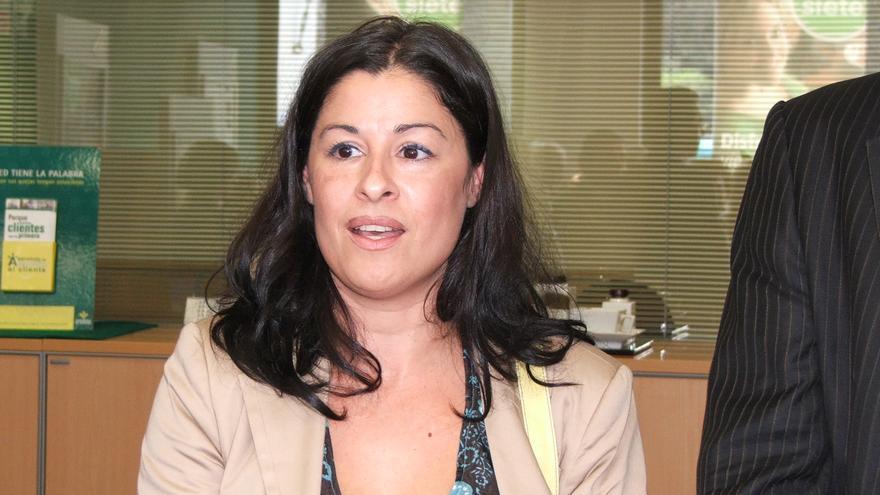 La alcaldesa de Hermigua, Solveida Clemente