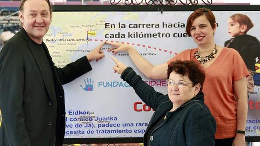 Juan Carlos Hernández, 'Juanka', en un acto promocional a favor de su hijo enfermo