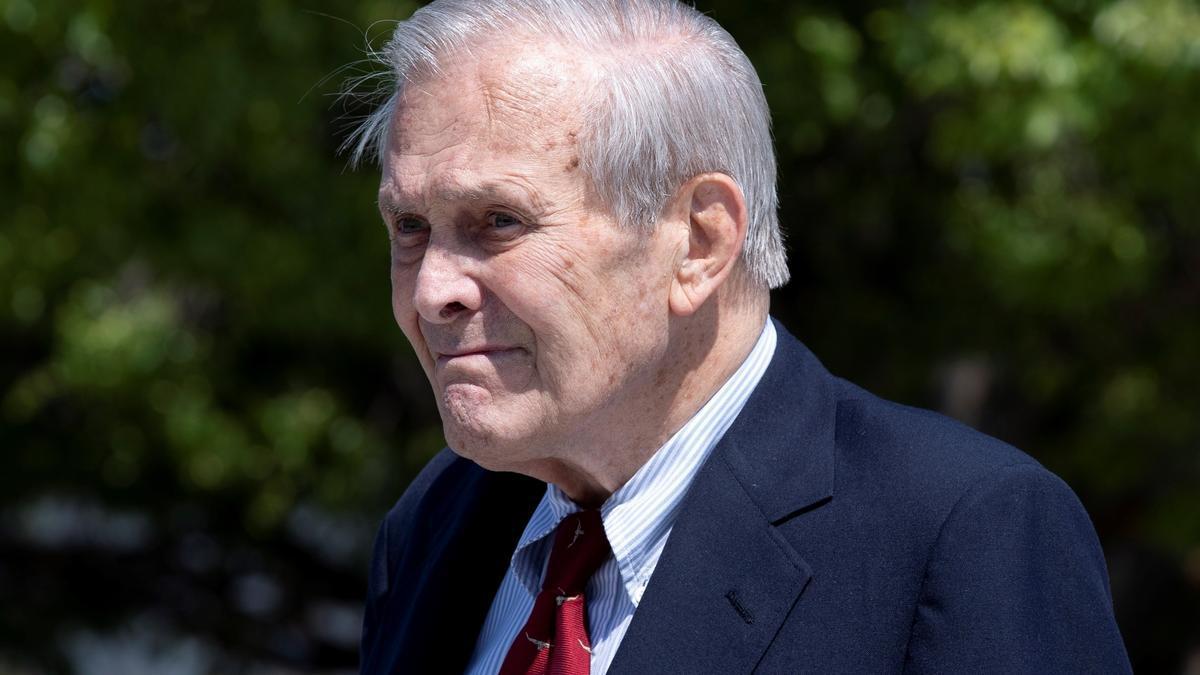 Fotografía tomada en septiembre de 2019 del exsecretario de Defensa de Estados Unidos Donald Rumsfeld. EFE/Michael Reynolds/Archivo