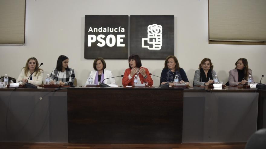 La consejera María José Sánchez Rubio y la diputada Micaela Navarro han presidido el acto en el PSOE-A con motivo del 25N.