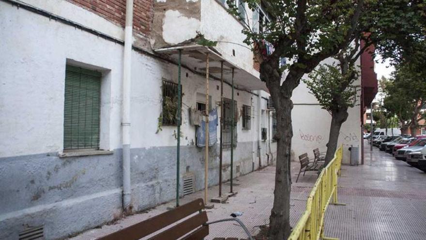Edificio desalojado en Dénia.