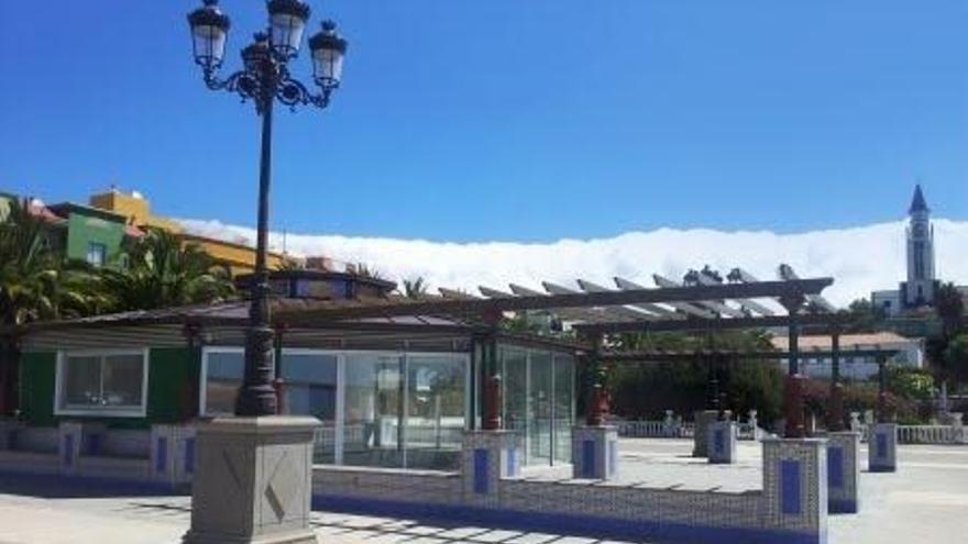 En la imagen, Plaza Francisca de Gazmira de El Paso con la nueva Cafetería La Plaza.