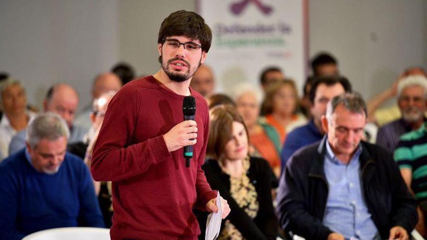 Lander Martínez, secretario general de Podemos en Euskadi y portavoz de Elkarrekin Podemos en el Parlamento Vasco