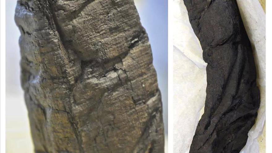 Descifran un pergamino calcinado por el Vesubio gracias a los rayos X