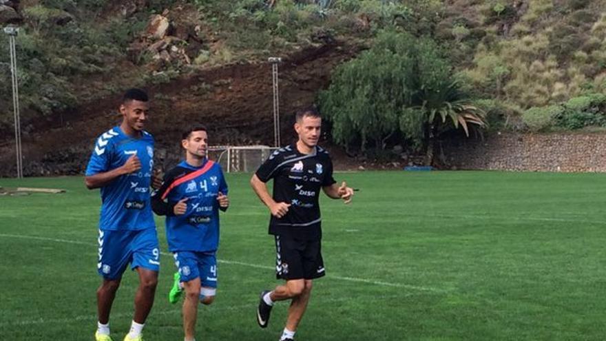 El Choco Lozano y Cristian García durante un entrenamiento en El Mundialito.