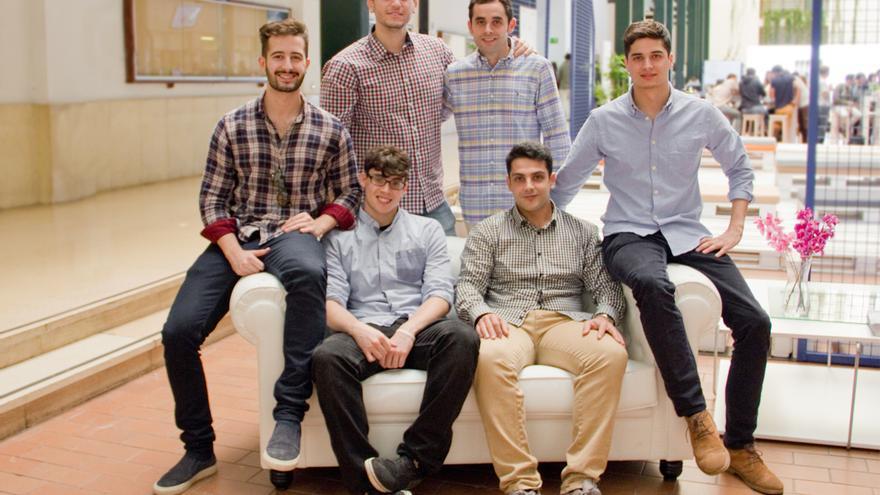 Los seis integrantes del equipo de Wuolah. / Foto: Wuolah