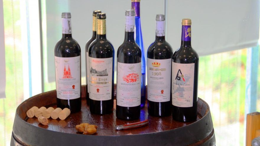 Algunos vinos de la bodega con sede en Sacedón (Guadalajara)