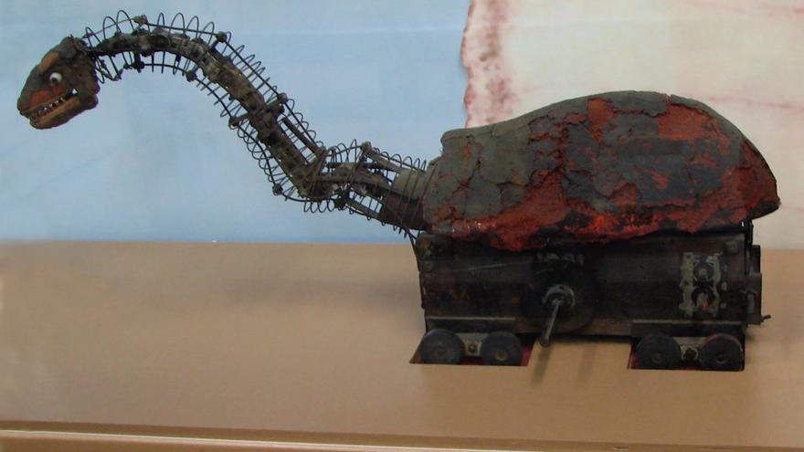 Mecanismo de un brontosaurio utilizado para la película 'King Kong' (1933)