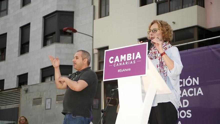 María Nebot, candidata de Podemos al Cabildo de Gran Canaria. (ALEJANDRO RAMOS)