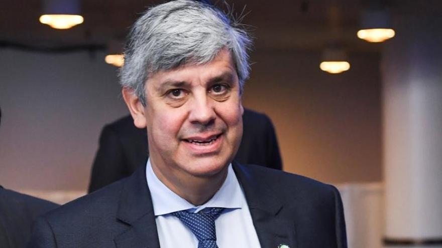 El presidente del Eurogrupo, Mario Centeno, en la reunión informal de la Cumbre de ministros de Economía y Finanzas en Helsinki, Finlandia.