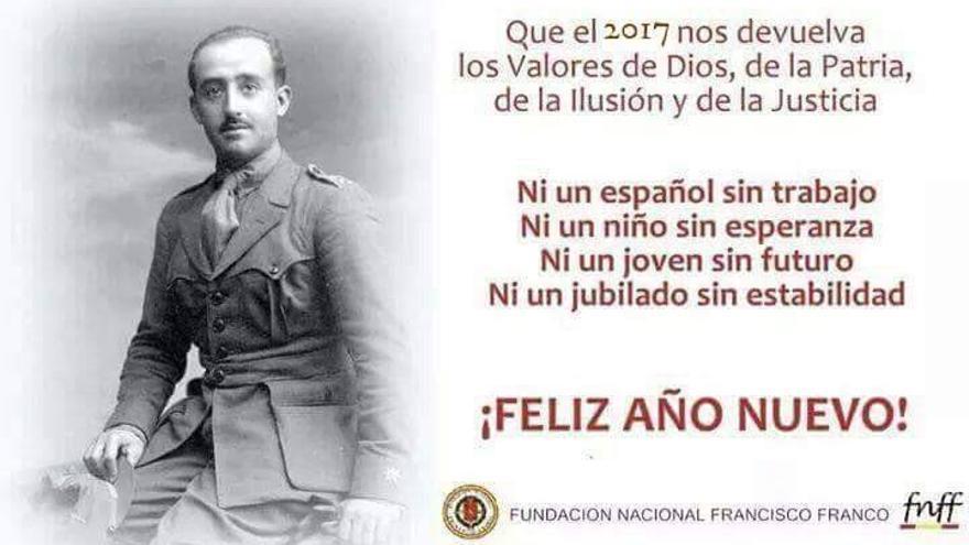 Felicitación de año nuevo de la Fundación Franco.