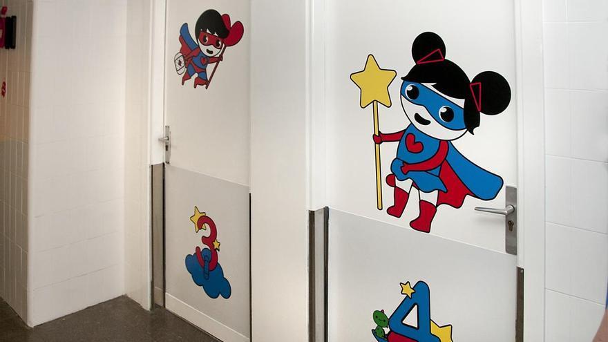 Parte de la nueva decoración del Área de Pediatría en el Hospital de Guadalajara