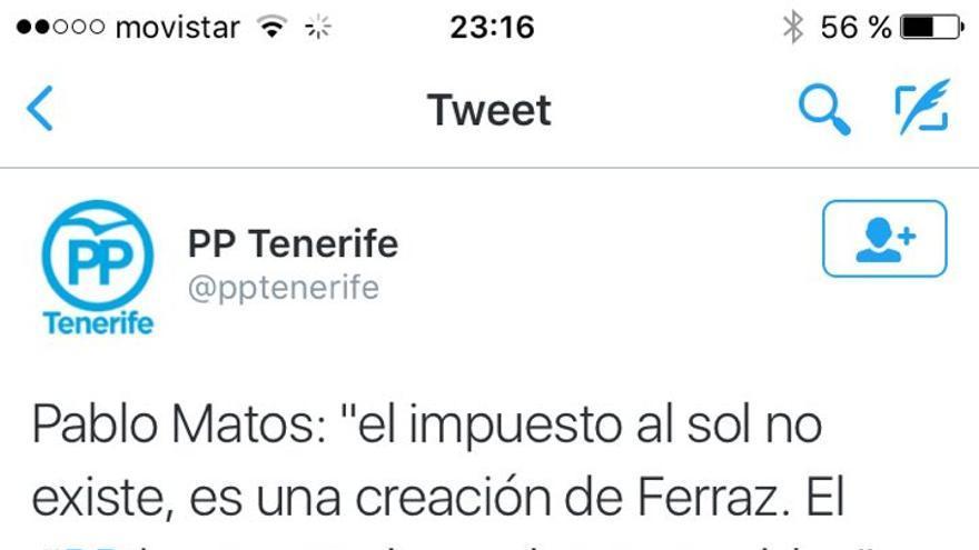 Tuit de Pablo Matos avalando una vez más la teoría de la conspiración: todo lo malo que le pasa a España sale de la sede del PSOE en Madrid.