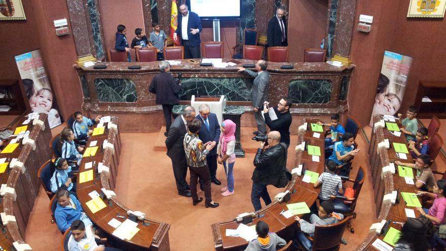 Niñas y niños de la Región participaron en la actividad organizada por Aldeas Infantiles y la Asamblea