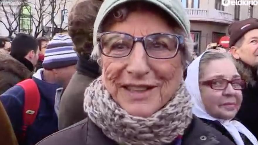 Captura del vídeo de la Marcha del Cambio.