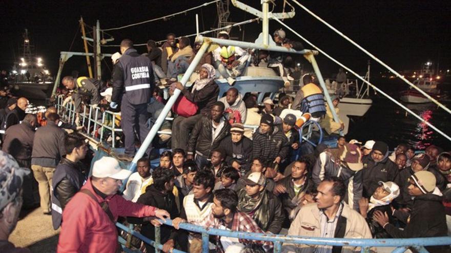 Barcos de la OTAN fueron acusados ya en 2011 de haber dejado morir a más de 60 personas de una patera libia (EFE)