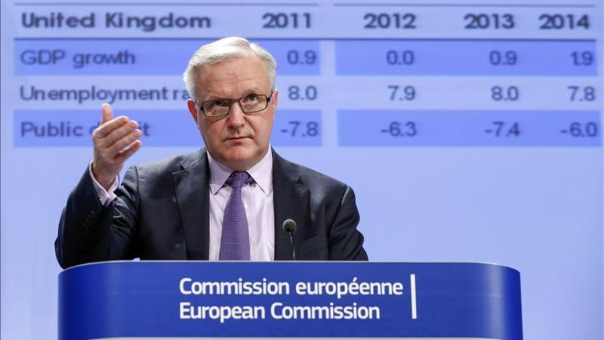 La CE rebaja de nuevo el crecimiento en la zona euro, que en 2013 retrocederá el 0,4 por ciento