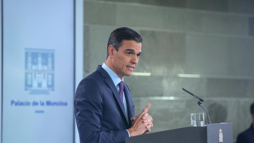Pedro Sánchez comparece tras el último Consejo de Ministros del año