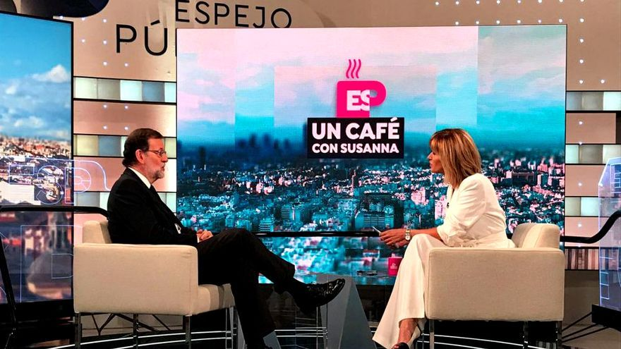 Mariano Rajoy con Susanna Griso en Espejo Público