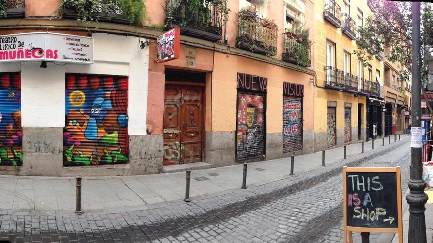 Calle Velarde, en el madrileño barrio de Malasaña