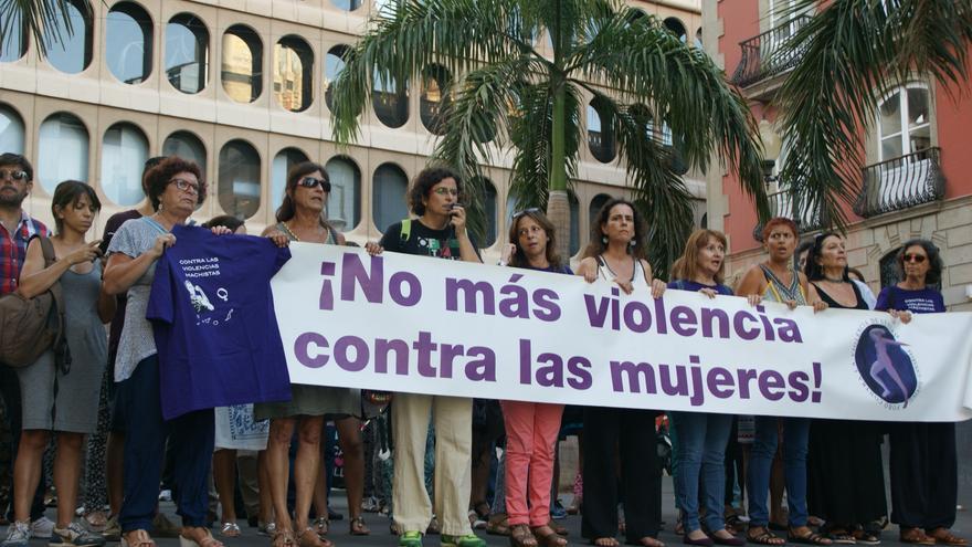 Protesta en la plaza de La Candelaria por el asesinato de Brankima Modric